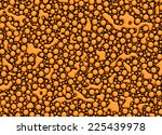an abstract of orange blobs on... | Shutterstock . vector #225439978