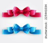 blue and pink holiday ribbon   Shutterstock .eps vector #225441034