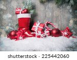 Christmas Background With Gift...