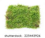 top view of fresh green grass... | Shutterstock . vector #225443926