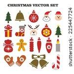 christmas vector set | Shutterstock .eps vector #225447724
