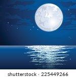 moonlit path on the sea | Shutterstock . vector #225449266