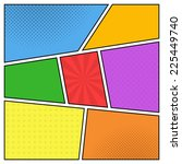 vector colorful template of... | Shutterstock .eps vector #225449740