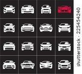 car icons on black background | Shutterstock .eps vector #225454240