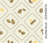 seamless background with beans... | Shutterstock .eps vector #225456076