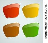 colorful modern speech bubble... | Shutterstock .eps vector #225459046