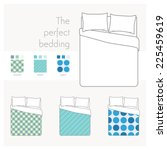 bedding and linen mock up with... | Shutterstock .eps vector #225459619