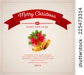 christmas greeting card. vector ... | Shutterstock .eps vector #225473314