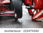professional racing team at... | Shutterstock . vector #225474340