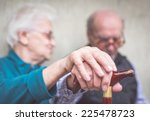 old couple. old man an woman... | Shutterstock . vector #225478723