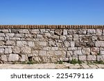Stone Old Wall With Sky In The...