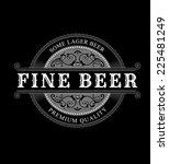 vintage ornamental logo. beer... | Shutterstock .eps vector #225481249