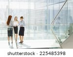 full length of businesswomen... | Shutterstock . vector #225485398