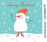 winter vector illustration with ... | Shutterstock .eps vector #225486079
