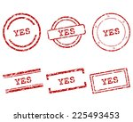yes stamps | Shutterstock .eps vector #225493453