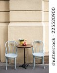 cafe table on street | Shutterstock . vector #225520900
