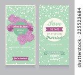 winter wedding invitation... | Shutterstock .eps vector #225523684