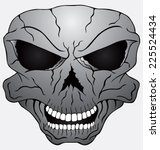 illustrations evil skull | Shutterstock .eps vector #225524434
