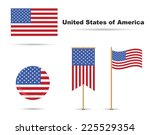 set of usa flags  stars and...