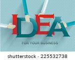 idea concept with human hands ... | Shutterstock .eps vector #225532738
