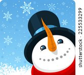 snowman close up background... | Shutterstock .eps vector #225533299