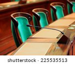empty vintage congress hall... | Shutterstock . vector #225535513
