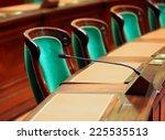 empty vintage congress hall... | Shutterstock . vector #225535513