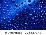 Water Drops On Abstract...