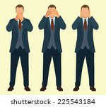 speak no evil  see no evil ... | Shutterstock .eps vector #225543184