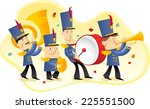 marching band illustration | Shutterstock .eps vector #225551500