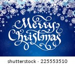 christmas greeting card... | Shutterstock .eps vector #225553510