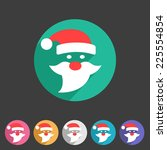 flat santa claus christmas icon