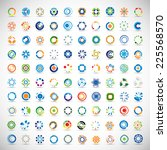 unusual icons set   isolated on ... | Shutterstock .eps vector #225568570