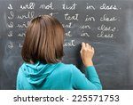 punished for texting in class. | Shutterstock . vector #225571753