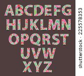 vector alphabet set. hand drawn ... | Shutterstock .eps vector #225578353