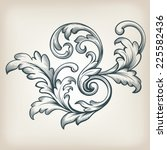 vintage baroque scroll design... | Shutterstock .eps vector #225582436