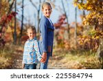 portrait of adorable cute boy... | Shutterstock . vector #225584794