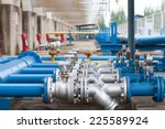 valves at gas plant | Shutterstock . vector #225589924