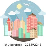 cityscape design with summer | Shutterstock . vector #225592243