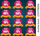discount price tag set and... | Shutterstock .eps vector #225598006