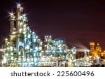light of petrochemical plant in ... | Shutterstock . vector #225600496