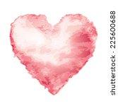Pink Watercolor Heart Shape....