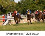 horse races in barbados. | Shutterstock . vector #2256010