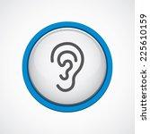 ear glossy with blue stroke...   Shutterstock . vector #225610159