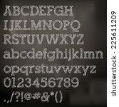 vector chalk alphabet on... | Shutterstock .eps vector #225611209
