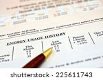 close up of a utility bill and... | Shutterstock . vector #225611743