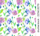 watercolor seamless floral... | Shutterstock . vector #225613270