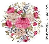 bouquet of chrysanthemum and... | Shutterstock . vector #225618226