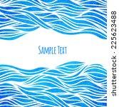 wave background  vector... | Shutterstock .eps vector #225623488