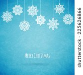 merry christmas card with... | Shutterstock .eps vector #225626866